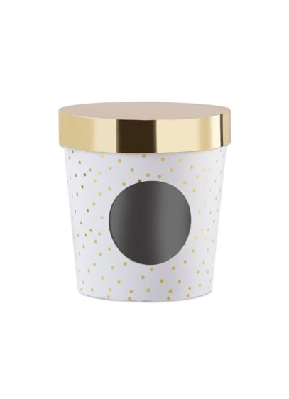 Ice Cream Favor Box - Gold Dot Set of 12 - Wedding Gifts & Decorations