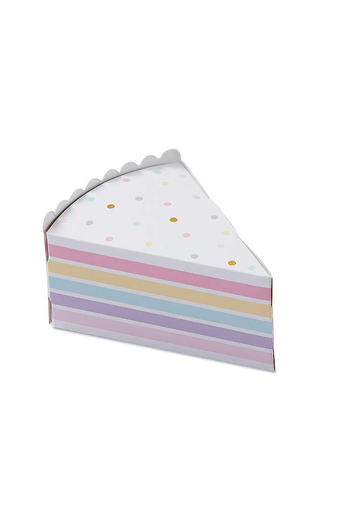 Cake Slice Favor Box Set of 24 - These charming Cake Slice Favor Boxes make gifting