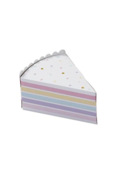 Cake Slice Favor Box Set of 24 - Wedding Gifts & Decorations