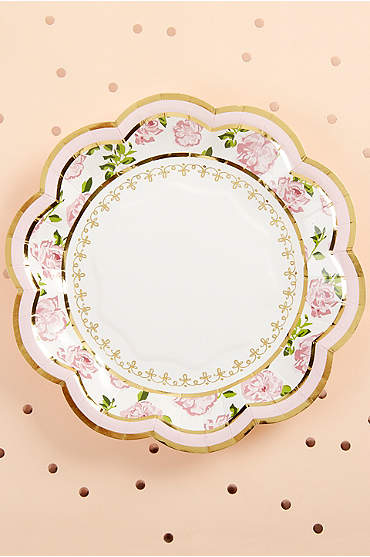 Tea Time Whimsy 7-Inch Premium Paper Plates
