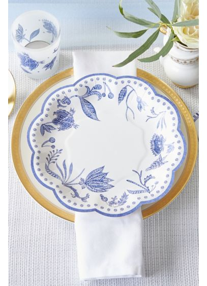 Blue Willow 7-Inch Premium Paper Plates - Wedding Gifts & Decorations