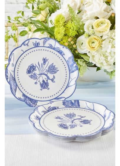 Blue Willow 9-Inch Premium Paper Plates - Wedding Gifts & Decorations