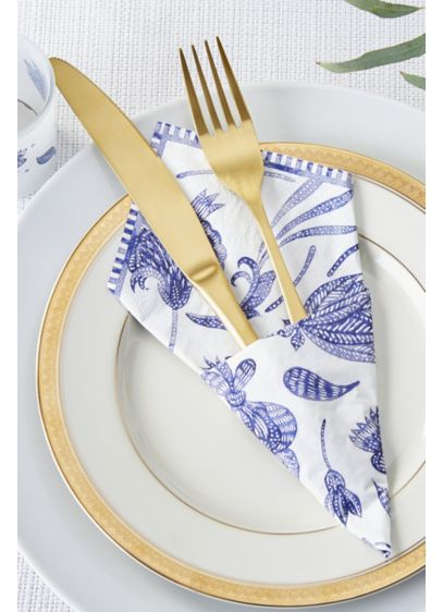 Blue Willow Paper Napkins - Set of 120 Paper 6.5