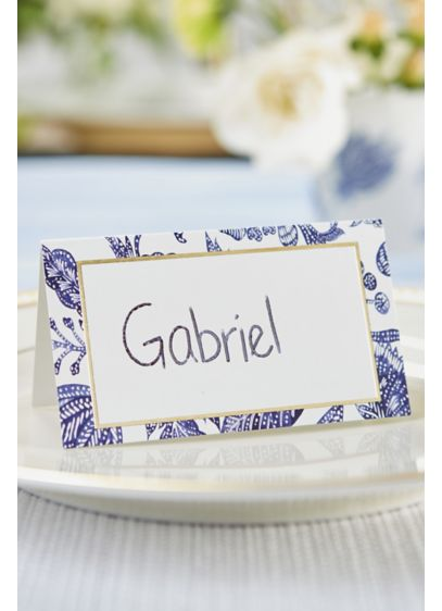 Blue Willow Tent Place Card Set of 100 - Set of 100 Paper 2