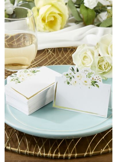 Botanical Garden Tent Place Card Set - Wedding Gifts & Decorations