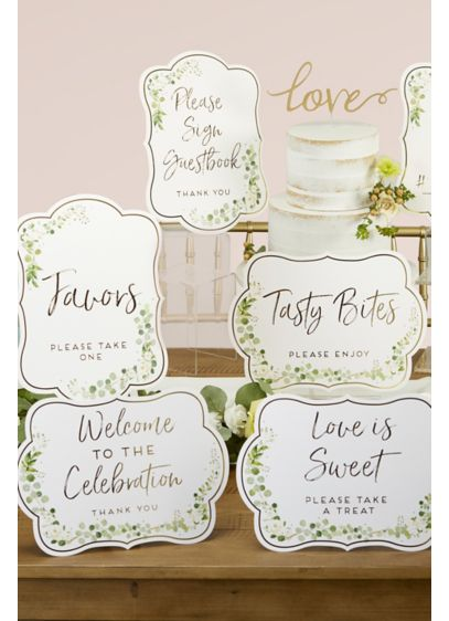 Botanical Garden Wedding Wayfinding Sign Kit - These lovely botanical cards usher guests through your