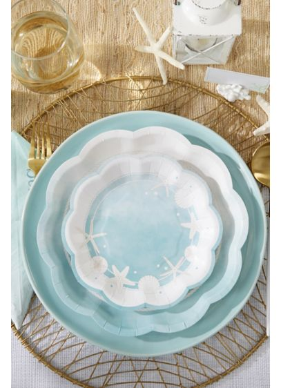 Beach Party 7-Inch Premium Paper Plates - Set of 64 Paper 7