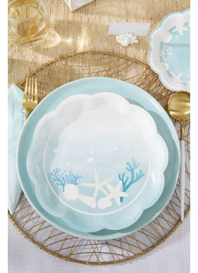 Beach Party 9-Inch Premium Paper Plates - Set of 32 Paper 9