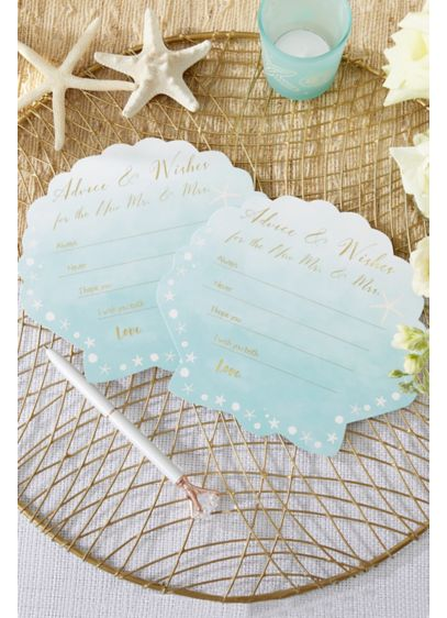 Beach Party Wedding Advice Cards - Set of 50 Paper 6.5