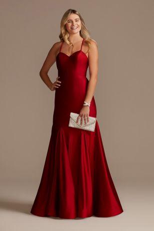 Long Mermaid / Trumpet Spaghetti Strap Dress - Blondie Nites
