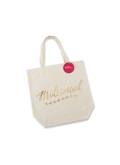 Gold Foil Bridesmaid Canvas Tote - Wedding Gifts & Decorations