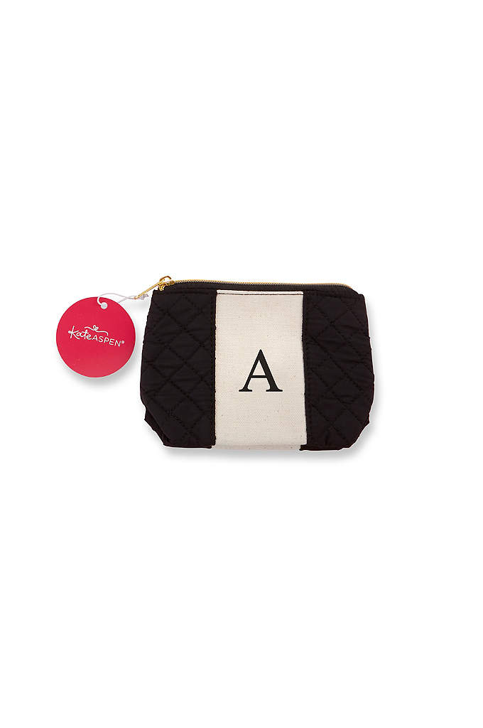 Personalized Black and White Monogram Makeup Bag - The Personalized Black and White Monogram Makeup Bag