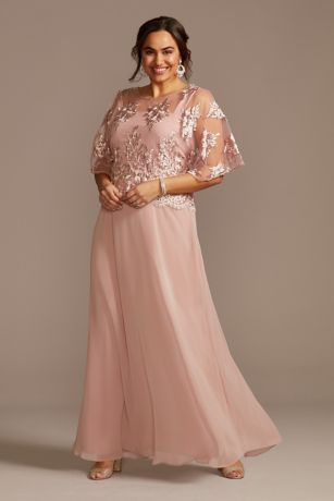 Long A-Line Elbow Sleeves Dress - Le Bos