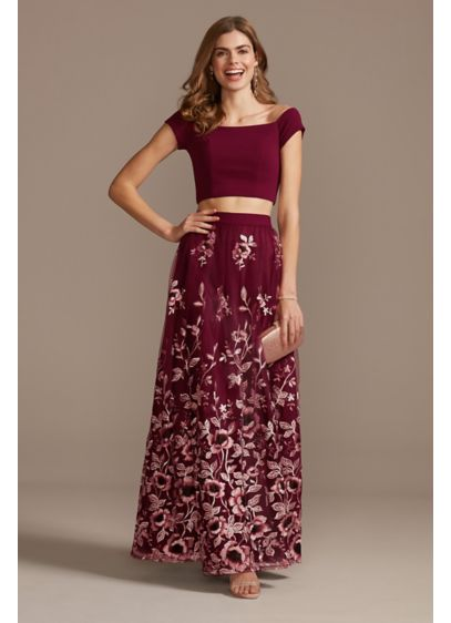Long Ballgown Off the Shoulder Prom Dress - Trixxi
