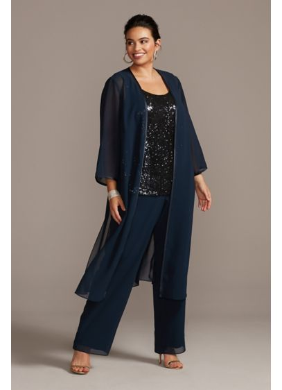 Long Jumpsuit Jacket Holiday Dress - Le Bos