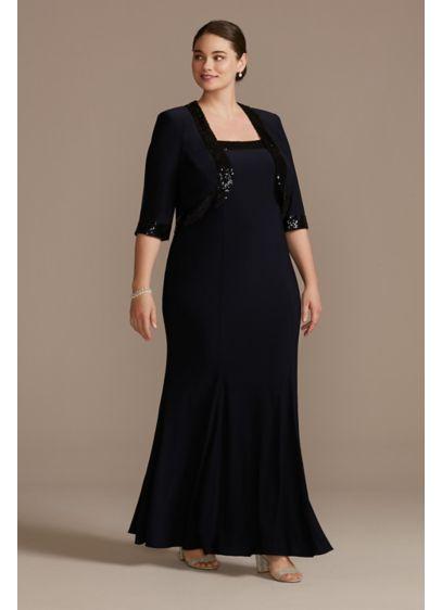 Long Sheath Jacket Formal Dresses Dress - Le Bos