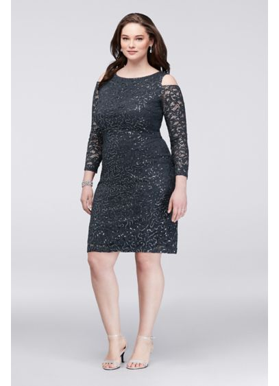 ac243c66941 ... Lace Plus Size Cocktail Dress. 293231. Short Sheath Off the Shoulder  Cocktail and Party Dress - Marina
