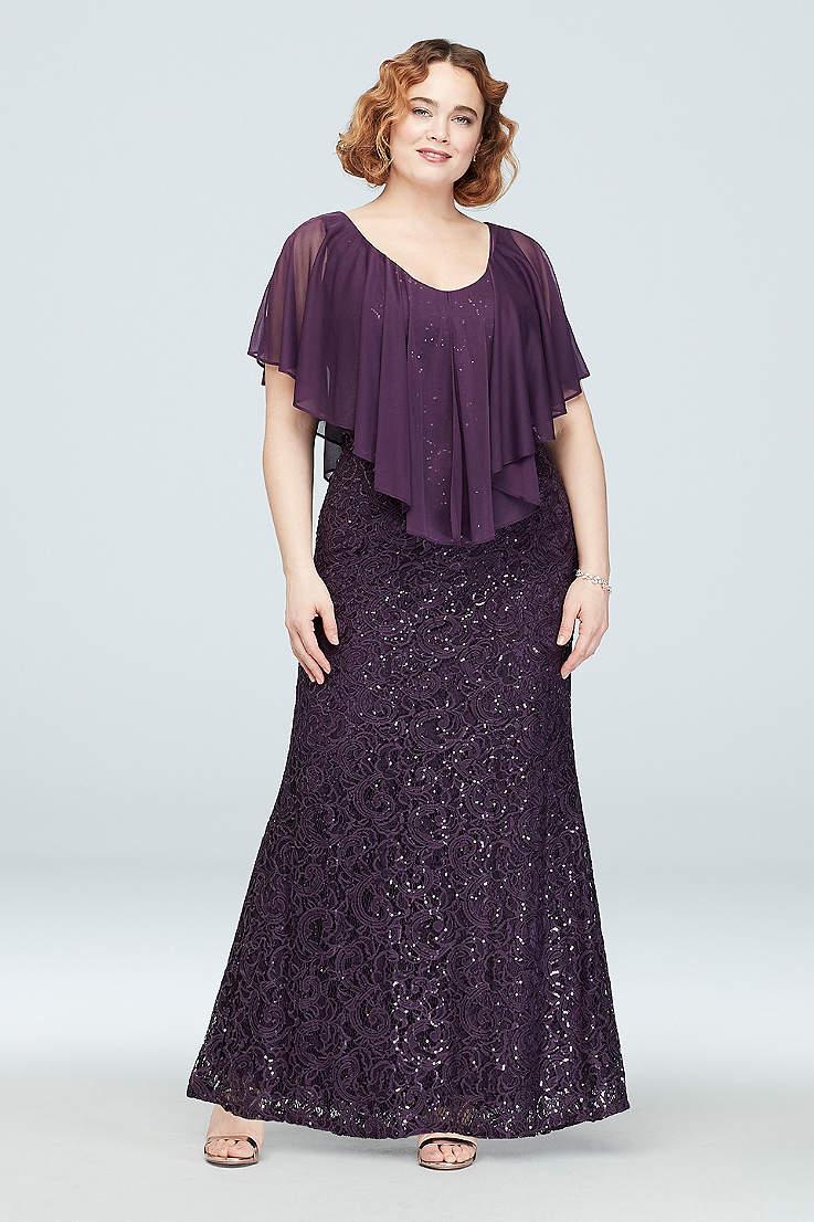 Plus Size Purple Dresses   Davids Bridal