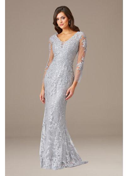 Long Mermaid / Trumpet Elbow Sleeves Formal Dresses Dress - Lara
