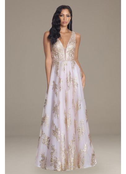 Long A-Line Short Sleeves Formal Dresses Dress - Blondie Nites