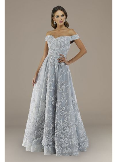 Long Ballgown Off the Shoulder Formal Dresses Dress - Lara