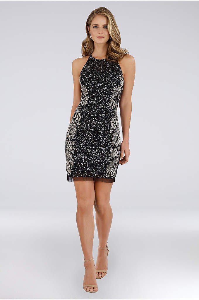 Lara Camilla Short Beaded Sheath Dress
