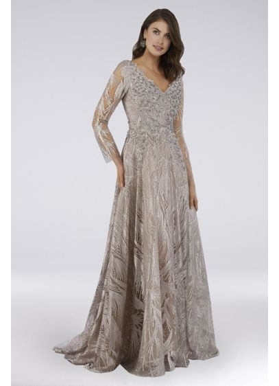 Long Ballgown Long Sleeves Dress - Lara