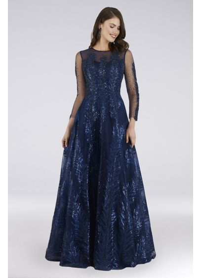 Long Ballgown Long Sleeves Formal Dresses Dress - Lara