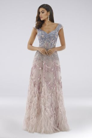 Ballgown Off the Shoulder Dress - Lara