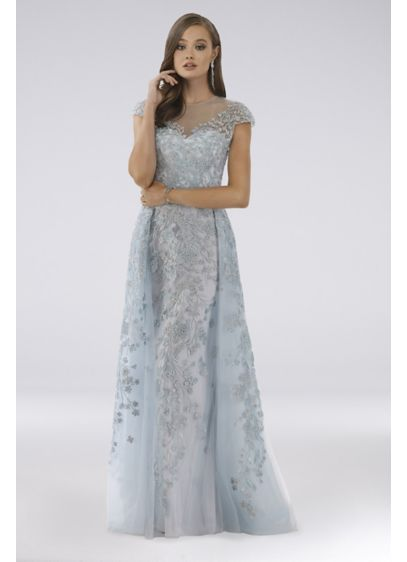 Long Ballgown Cap Sleeves Formal Dresses Dress - Lara