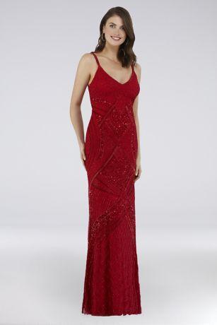 Long Sheath Spaghetti Strap Dress - Lara