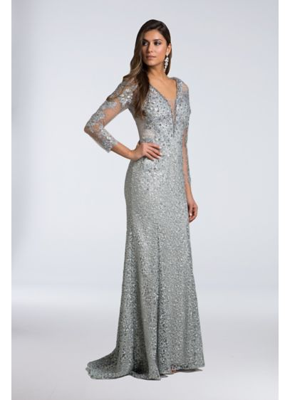 Long Sheath Long Sleeves Cocktail and Party Dress - Lara