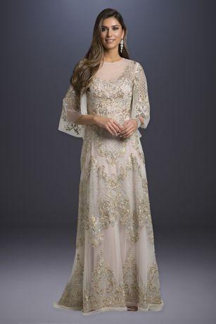Long A-Line 3/4 Sleeves Dress - Lara
