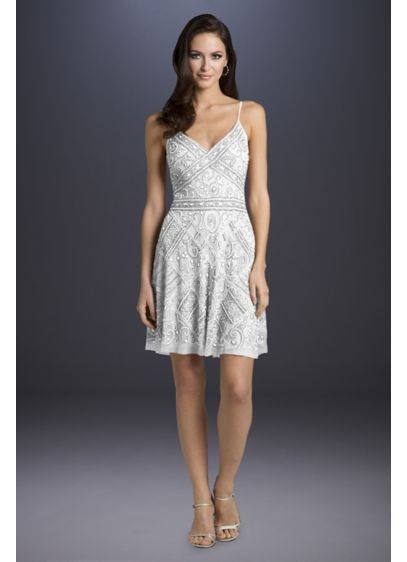 febc1654c7a8 Lara Annabelle Beaded A-Line Dress | David's Bridal