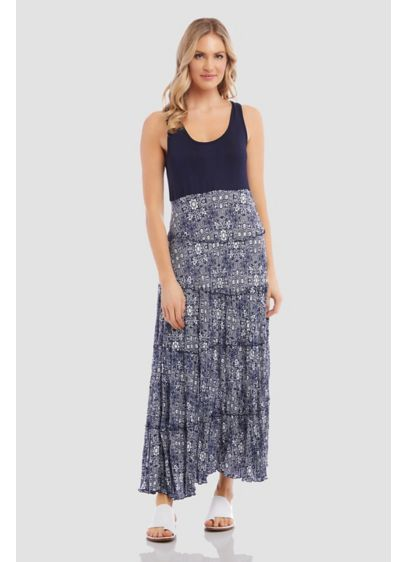 Topanga Tiered Crinkled Tank Maxi Dress - Crafted of crinkled fabric and detailed with a