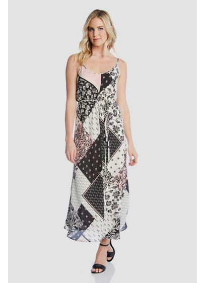Scoopneck Printed Spaghetti Strap Cami Dress - This spaghetti strap cami dress features a pretty