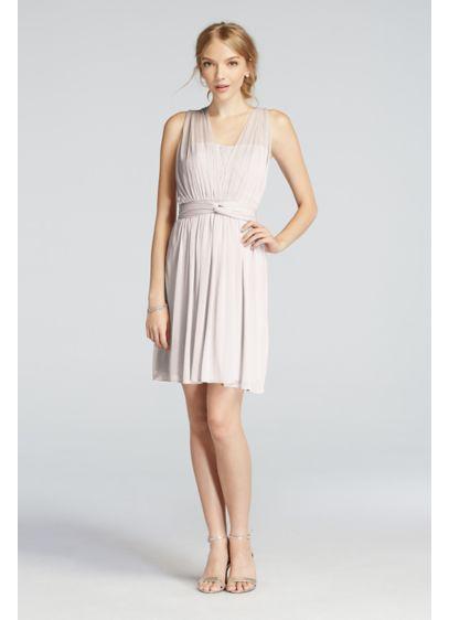 Short Red Soft & Flowy Bridesmaid Dress