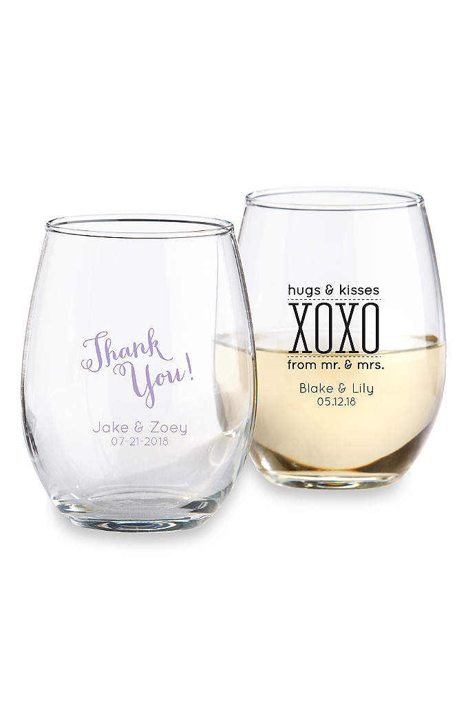 Personalized Stemless Wine Glass - With these stemless wine glasses, there is nothing