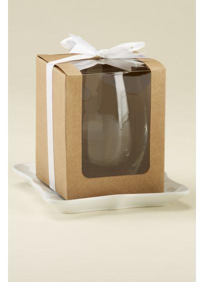Kraft 15 oz Glassware Gift Boxes - Set of 24 Holds 15 oz stemless glassware;