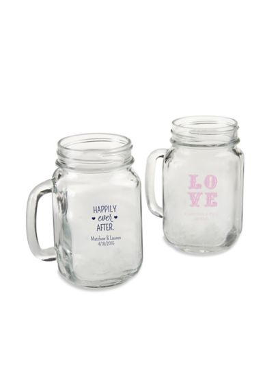 (Personalized 16 oz Mason Jar Mug)