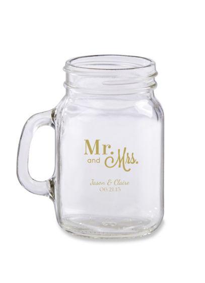 Personalized Mini Mason Jar Glass - Wedding Gifts & Decorations