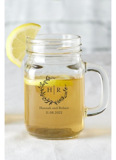 Personalized Mason Jar Mug - Guarantee every guest will remember your big day