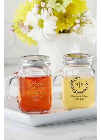 Personalized Mini Mason Shot Glass - Personalize these versatile mason jar shot glasses with
