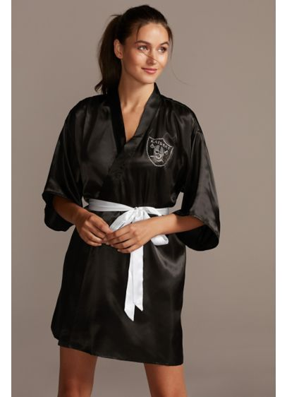Oakland Raiders Crystal Embellished Satin Robe - Any Oakland Raiders fan will absolutely love this