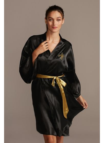 New Orleans Saints Crystal Embellished Satin Robe - Any New Orleans Saints fan will absolutely love