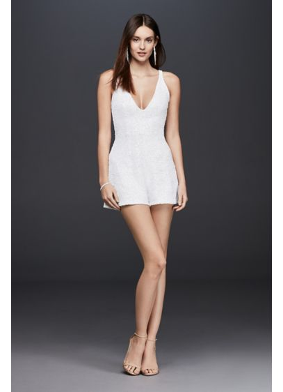Short A-Line Beach Wedding Dress - Dress the Population