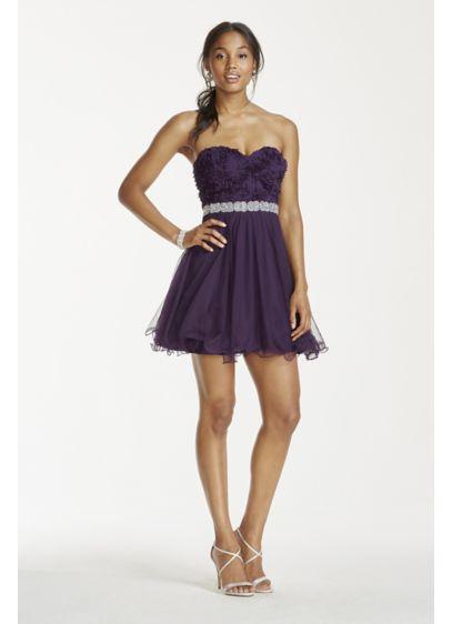 Short Ballgown Strapless Guest of Wedding Dress - City Triangles