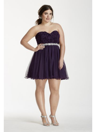 Short Ballgown Strapless Cocktail and Party Dress - City Triangles