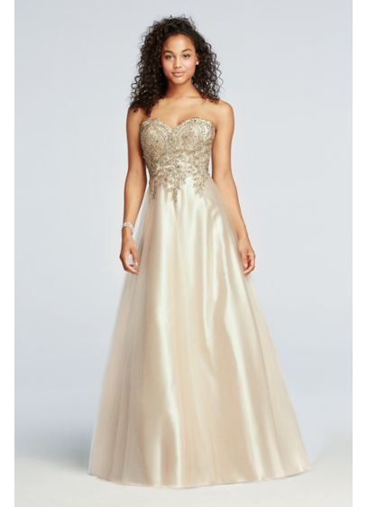 Long Ballgown Strapless Formal Dresses Dress - Sean Collections