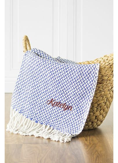 Personalized Herringbone Throw - Add cozy charm to a den or guestroom